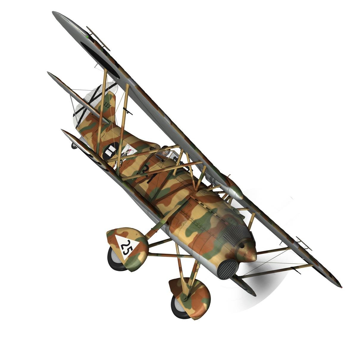 fiat cr.32 – italy air force – xvi gruppo 3d model fbx lwo lw lws obj c4d 266305