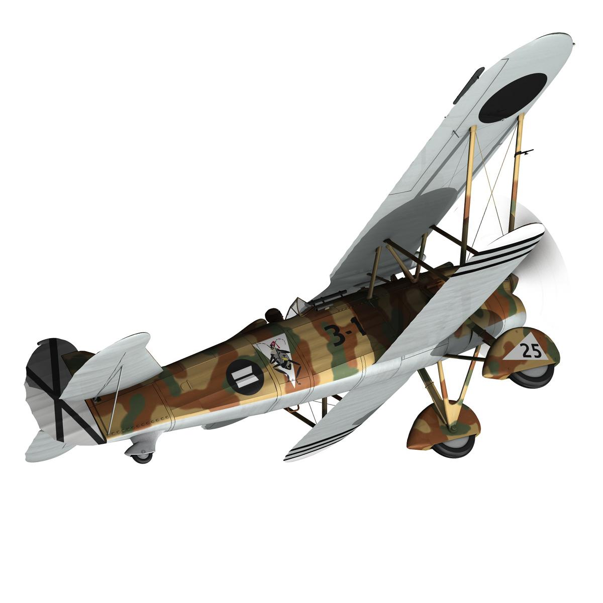 fiat cr.32 – italy air force – xvi gruppo 3d model fbx lwo lw lws obj c4d 266306
