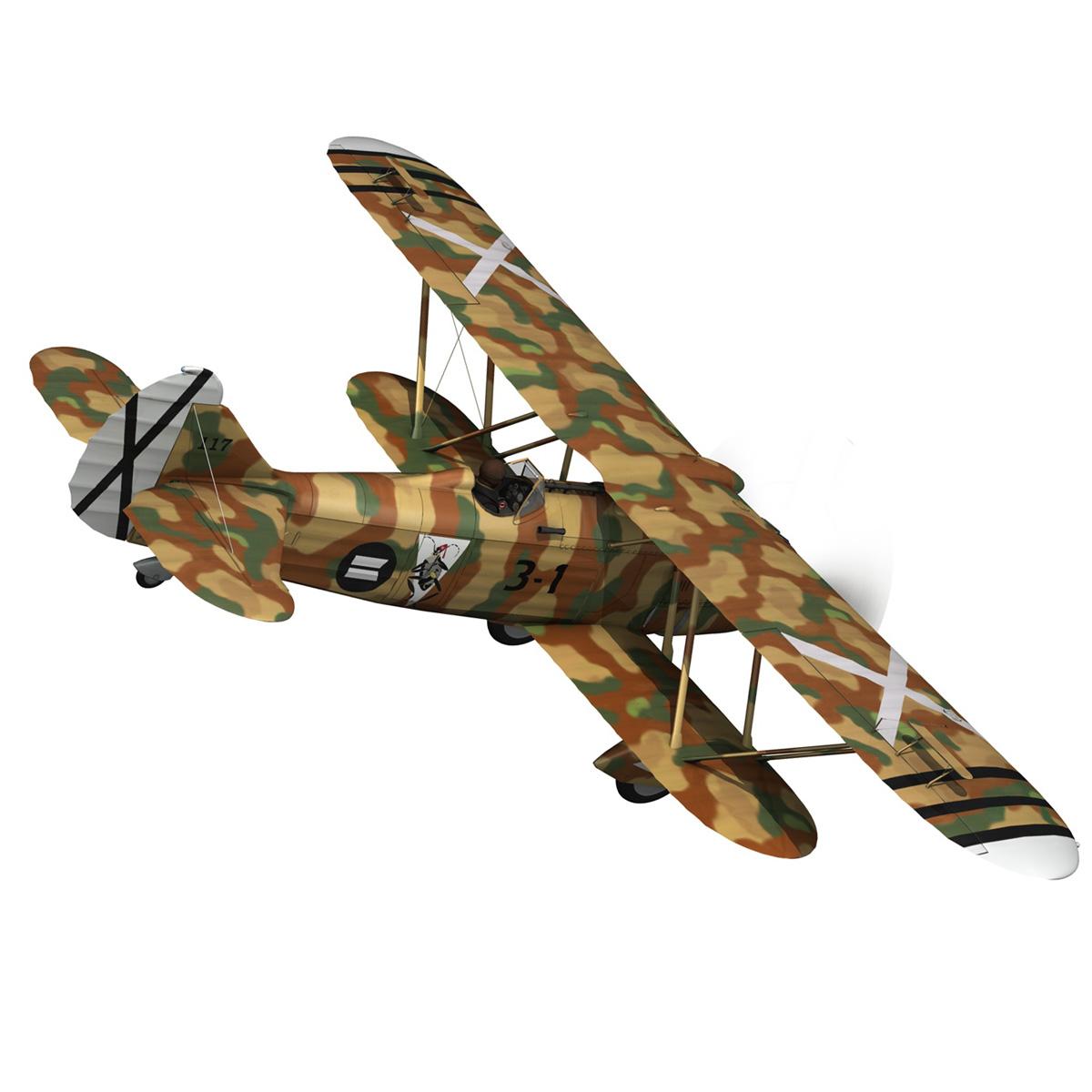 fiat cr.32 – italy air force – xvi gruppo 3d model fbx lwo lw lws obj c4d 266307