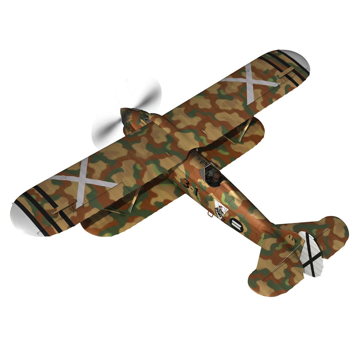 fiat cr.32 – italy air force – xvi gruppo 3d model fbx lwo lw lws obj c4d 266308