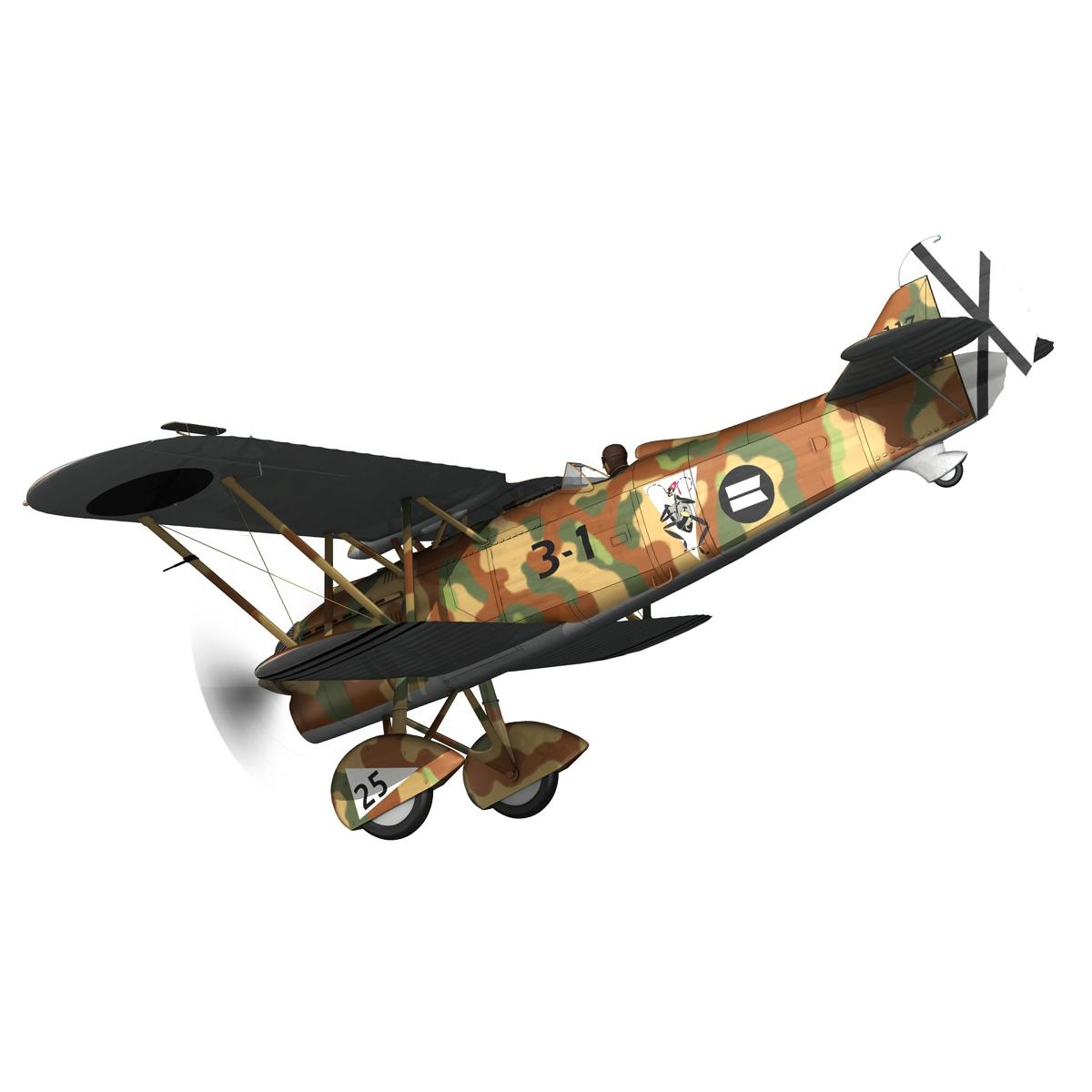 fiat cr.32 – italy air force – xvi gruppo 3d model fbx lwo lw lws obj c4d 266309