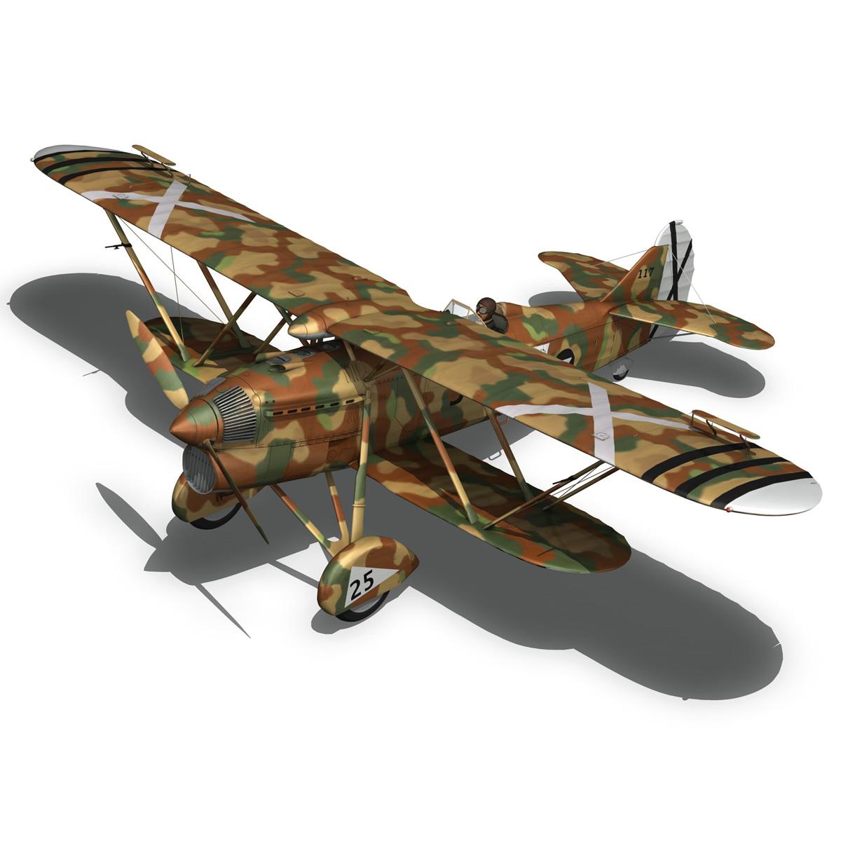 fiat cr.32 – italy air force – xvi gruppo 3d model fbx lwo lw lws obj c4d 266310