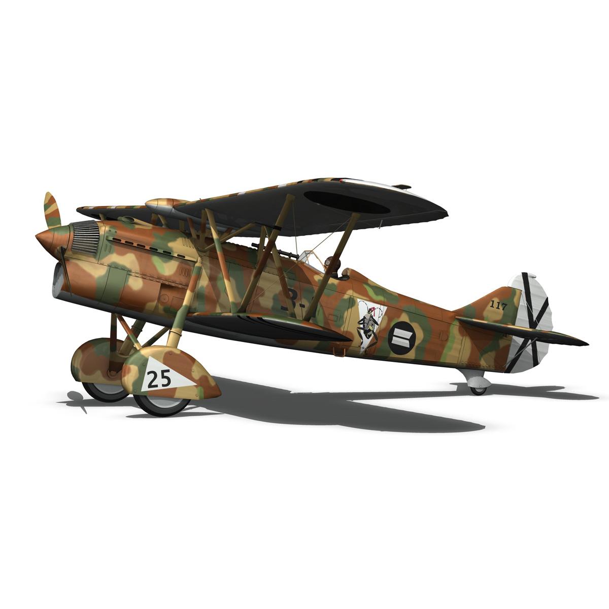 fiat cr.32 – italy air force – xvi gruppo 3d model fbx lwo lw lws obj c4d 266311