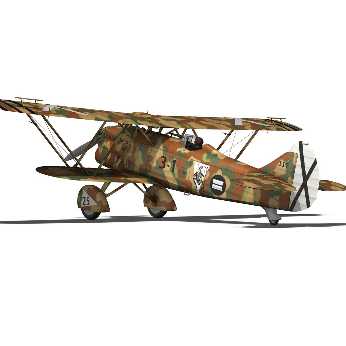 fiat cr.32 – italy air force – xvi gruppo 3d model fbx lwo lw lws obj c4d 266312