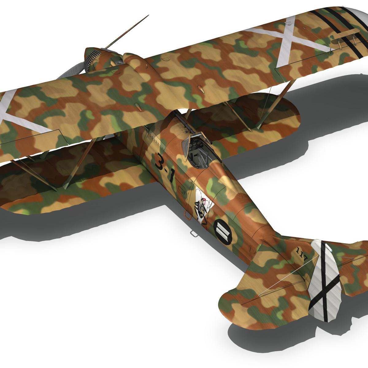 fiat cr.32 – italy air force – xvi gruppo 3d model fbx lwo lw lws obj c4d 266313