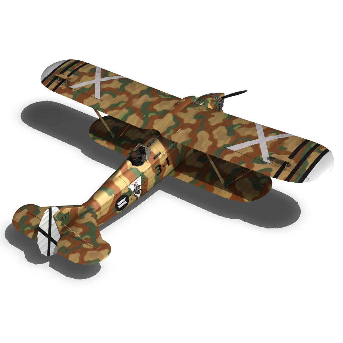 fiat cr.32 – italy air force – xvi gruppo 3d model fbx lwo lw lws obj c4d 266314