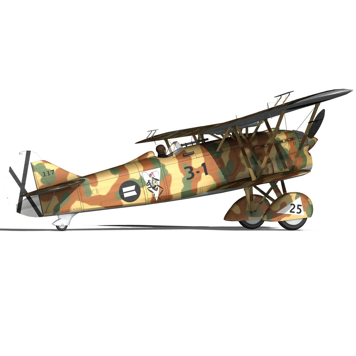 fiat cr.32 – italy air force – xvi gruppo 3d model fbx lwo lw lws obj c4d 266315