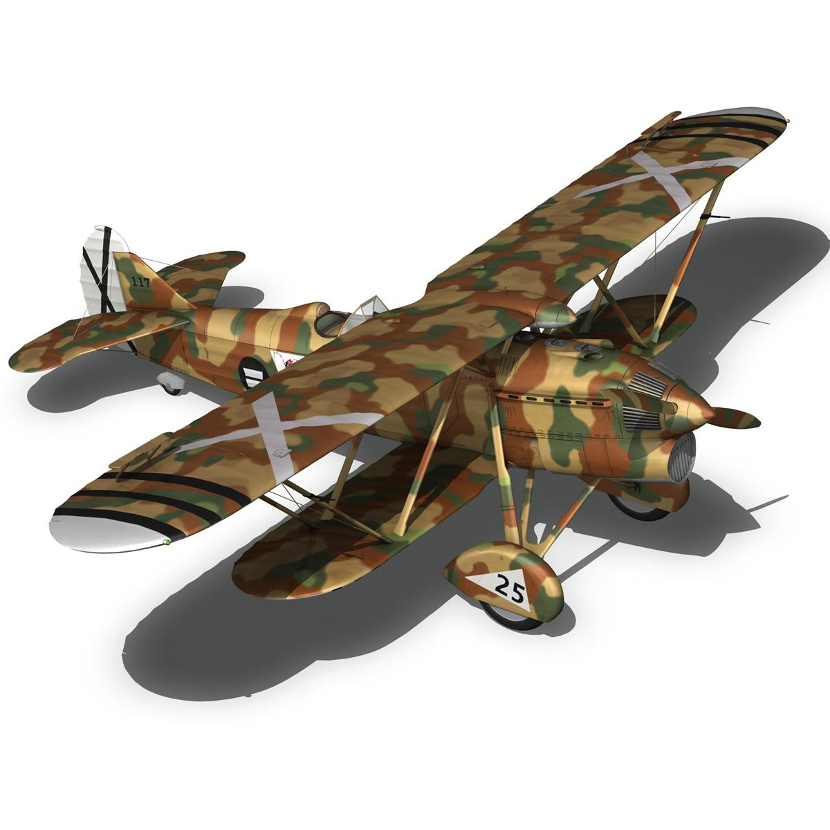 fiat cr.32 – italy air force – xvi gruppo 3d model fbx lwo lw lws obj c4d 266316