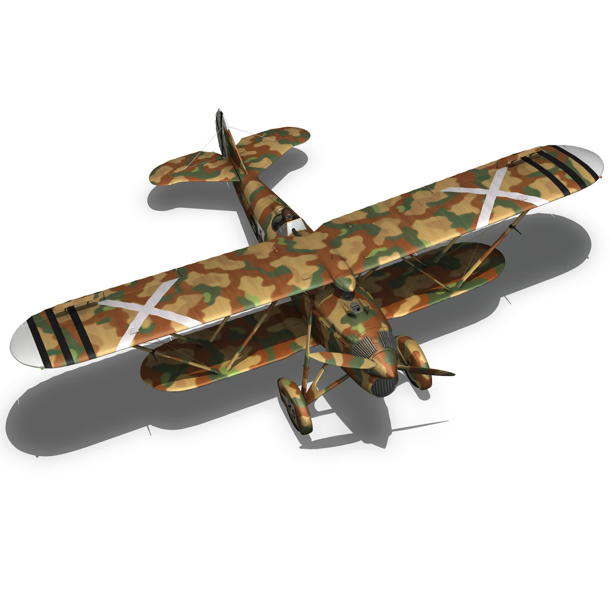 fiat cr.32 – italy air force – xvi gruppo 3d model fbx lwo lw lws obj c4d 266317