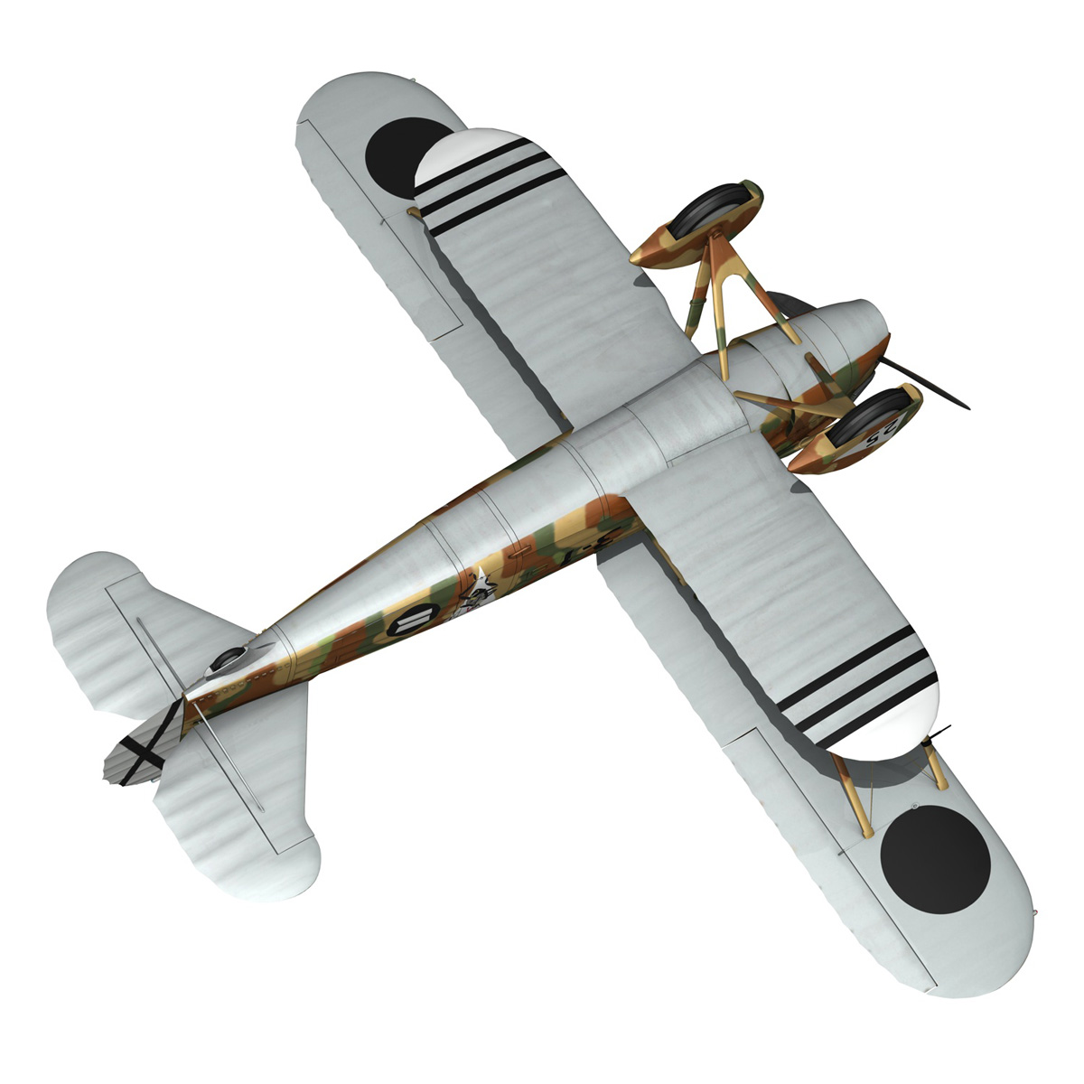 fiat cr.32 – italy air force – xvi gruppo 3d model fbx lwo lw lws obj c4d 266318