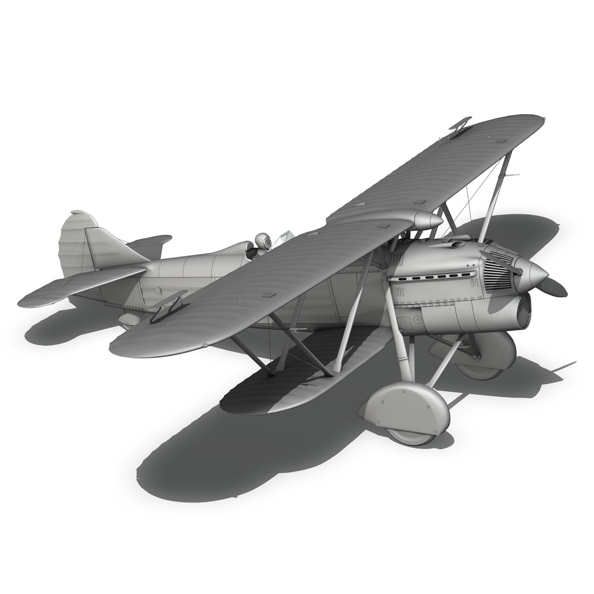 fiat cr.32 – italy air force – xvi gruppo 3d model fbx lwo lw lws obj c4d 266319