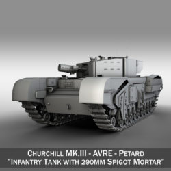 Churchill MK.III AVRE - Petard 3d model 0