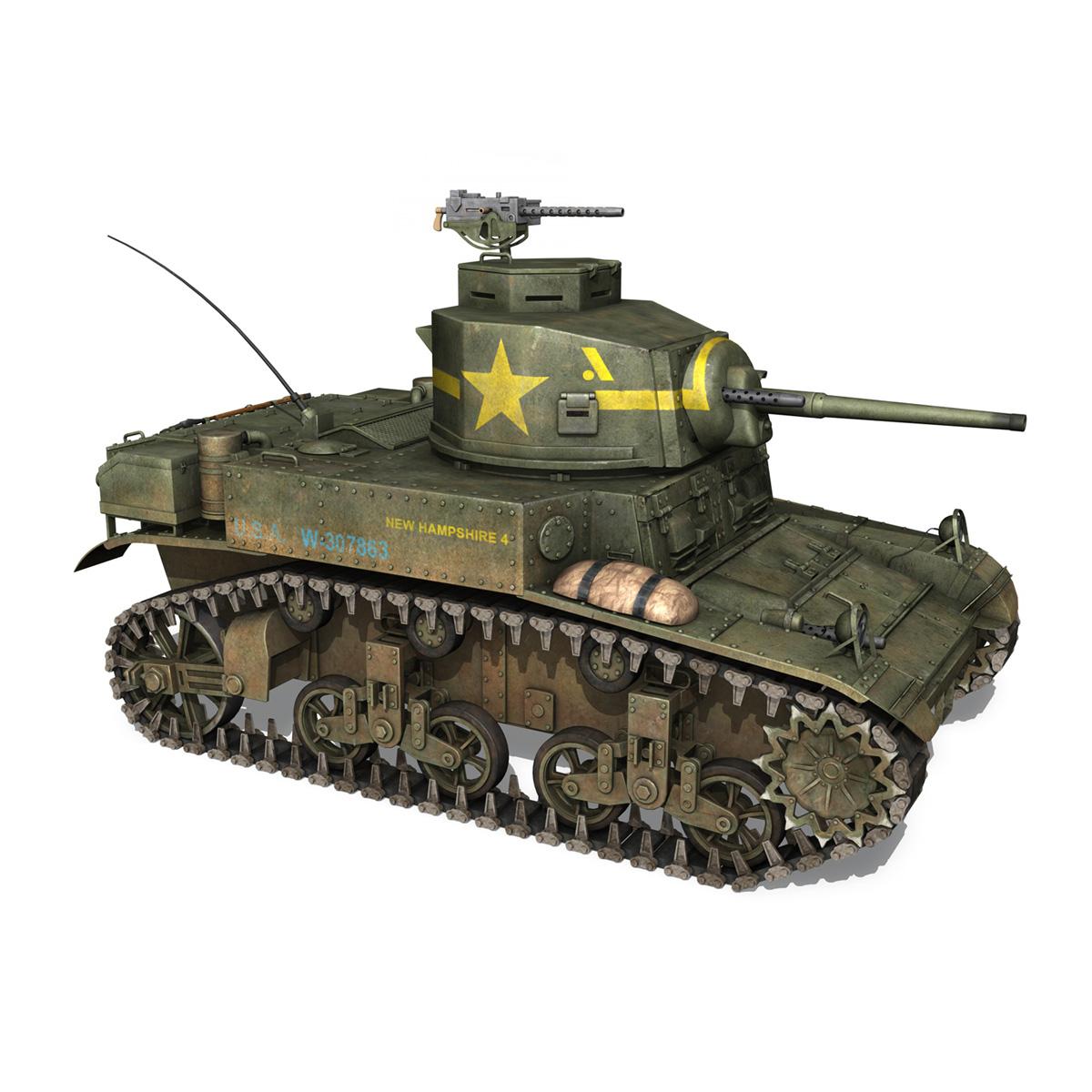 m3 light tank stuart – new hampshire 4 3d model 3ds c4d fbx lwo lw lws obj 266379