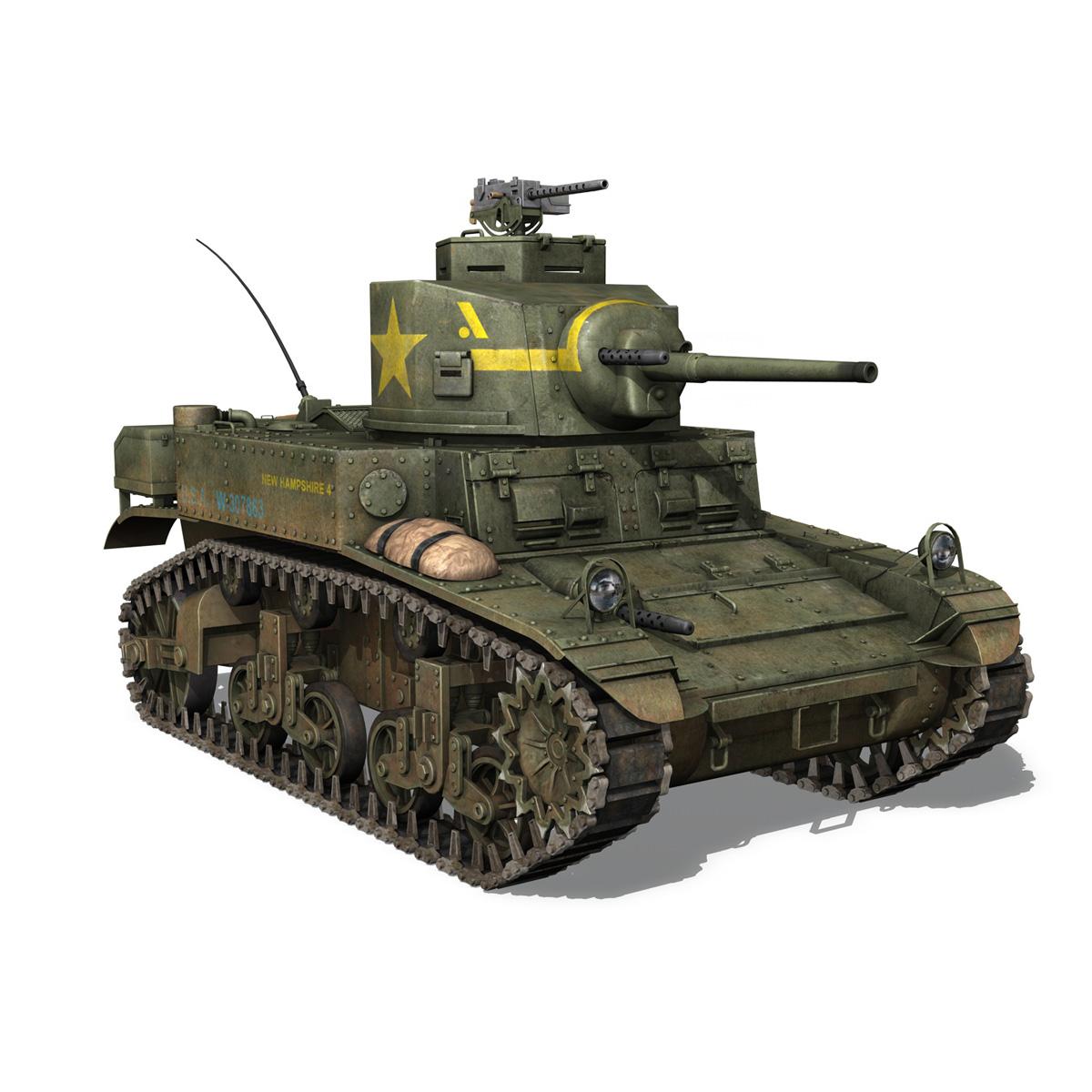 m3 light tank stuart – new hampshire 4 3d model 3ds c4d fbx lwo lw lws obj 266380