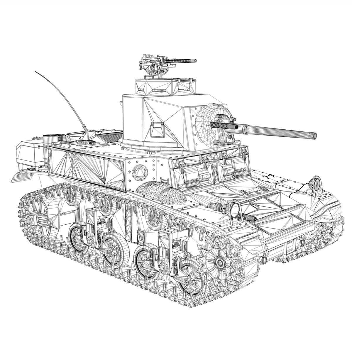 m3 light tank stuart – new hampshire 4 3d model 3ds c4d fbx lwo lw lws obj 266383