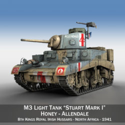 M3 Light Tank Honey - Allendale 3d model 0