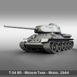 T-34 85 - Soviet medium tank 3d model high poly