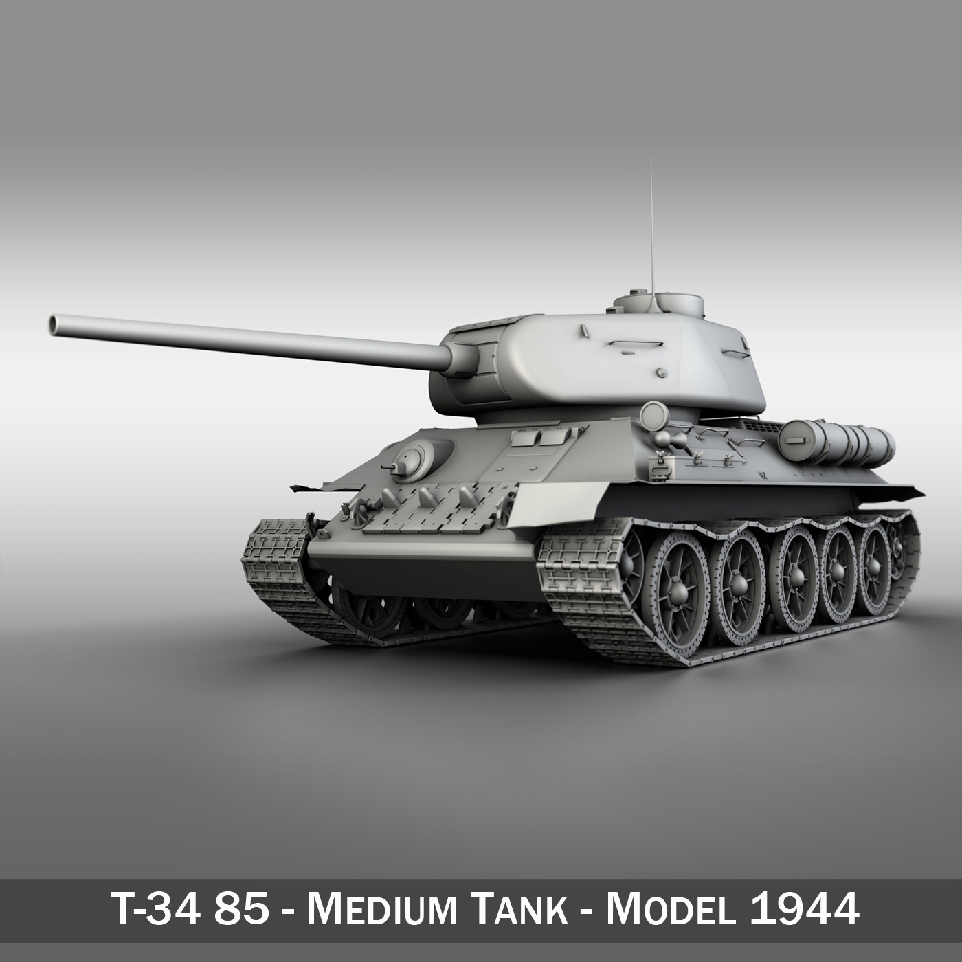 t-34 85 – soviet medium tank 3d model 3ds fbx lwo lw lws obj c4d 266408