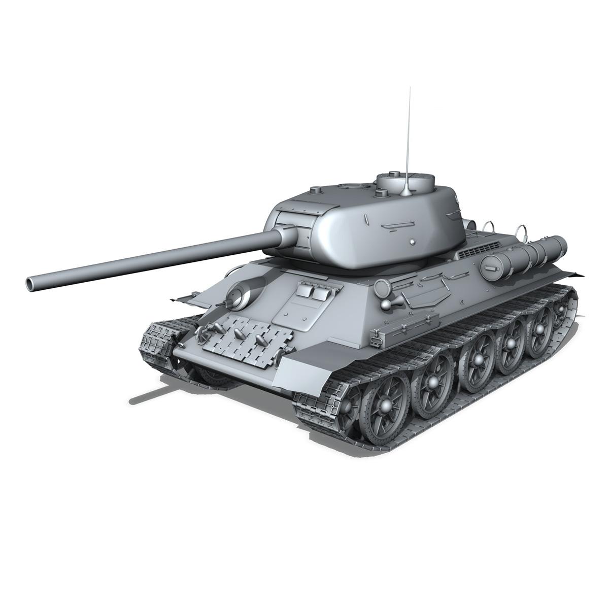 t-34 85 – soviet medium tank 3d model 3ds fbx lwo lw lws obj c4d 266409
