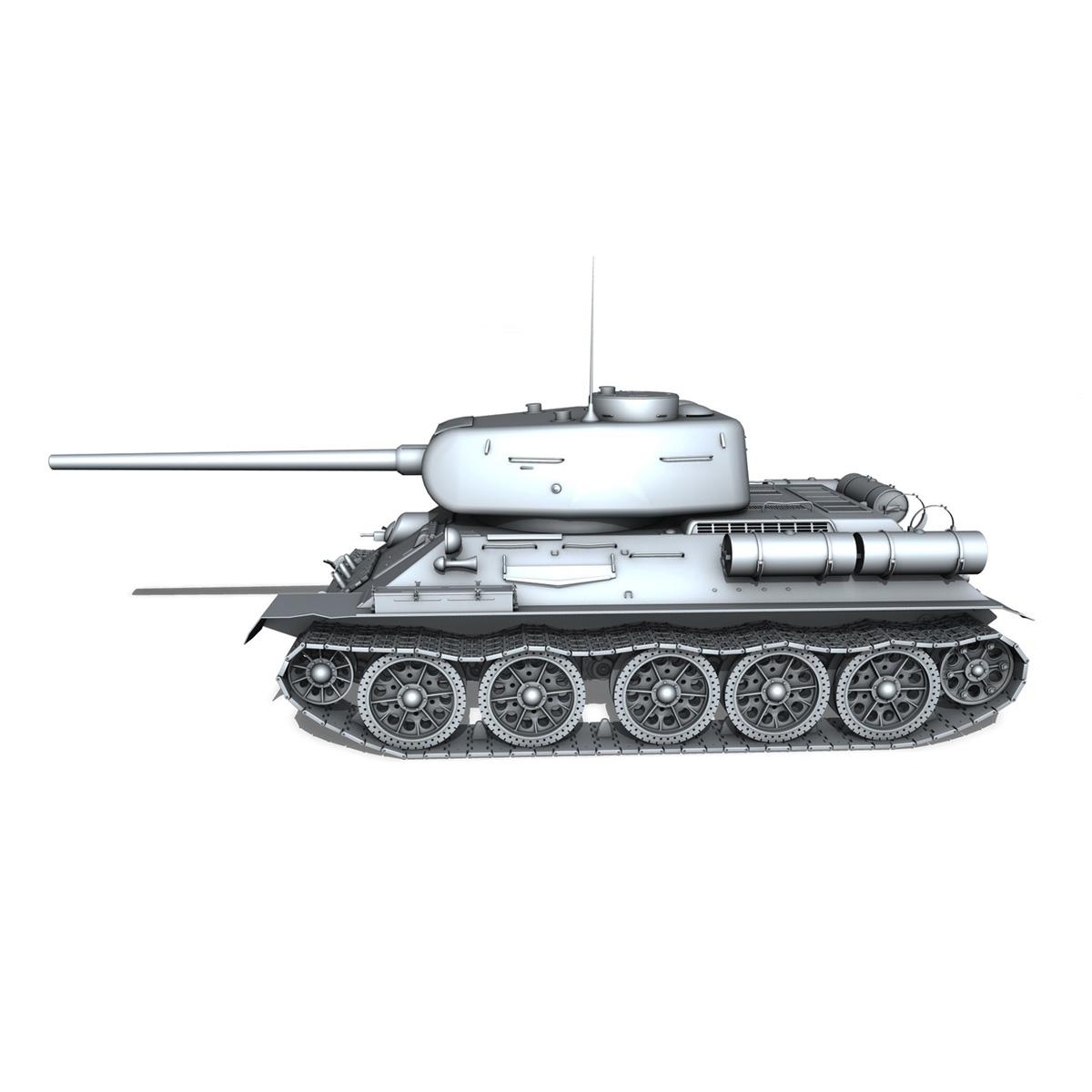 t-34 85 – soviet medium tank 3d model 3ds fbx lwo lw lws obj c4d 266410