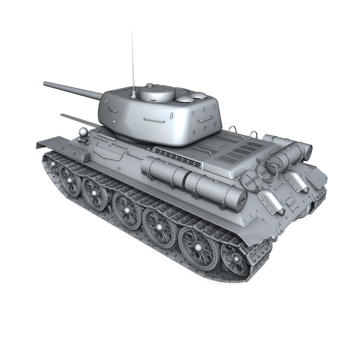 t-34 85 – soviet medium tank 3d model 3ds fbx lwo lw lws obj c4d 266411