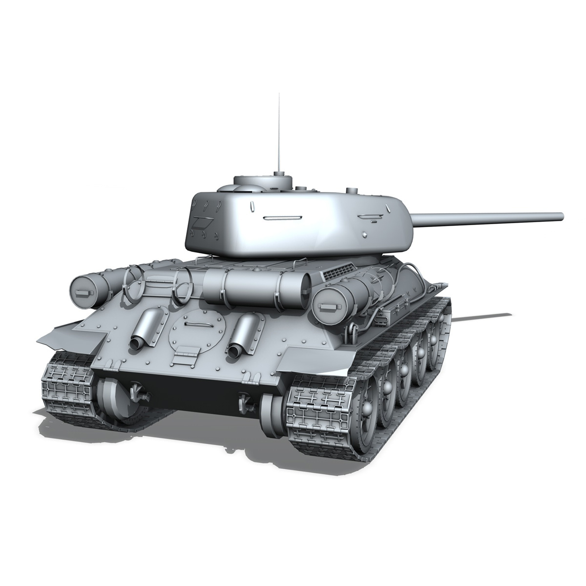 t-34 85 – soviet medium tank 3d model 3ds fbx lwo lw lws obj c4d 266412