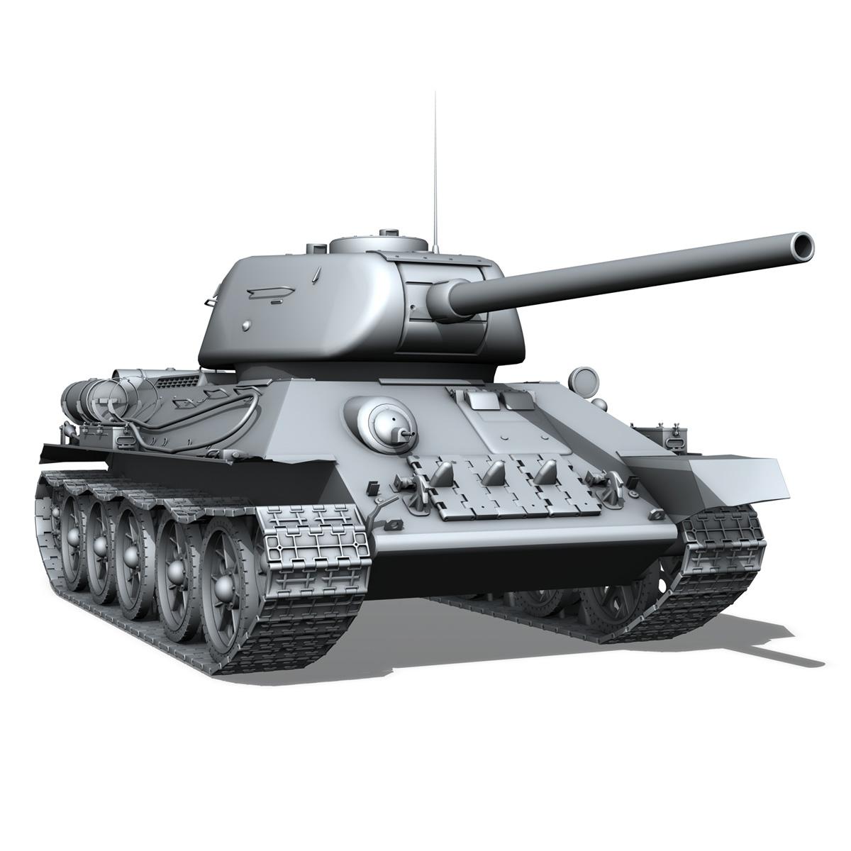t-34 85 – soviet medium tank 3d model 3ds fbx lwo lw lws obj c4d 266415