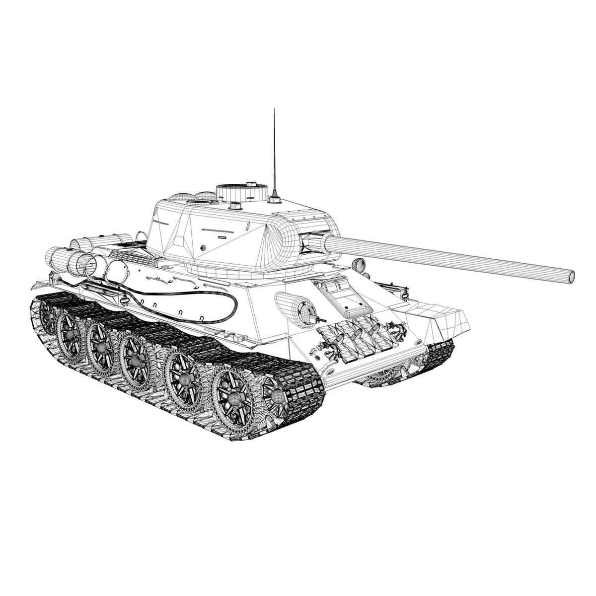 t-34 85 – soviet medium tank 3d model 3ds fbx lwo lw lws obj c4d 266417