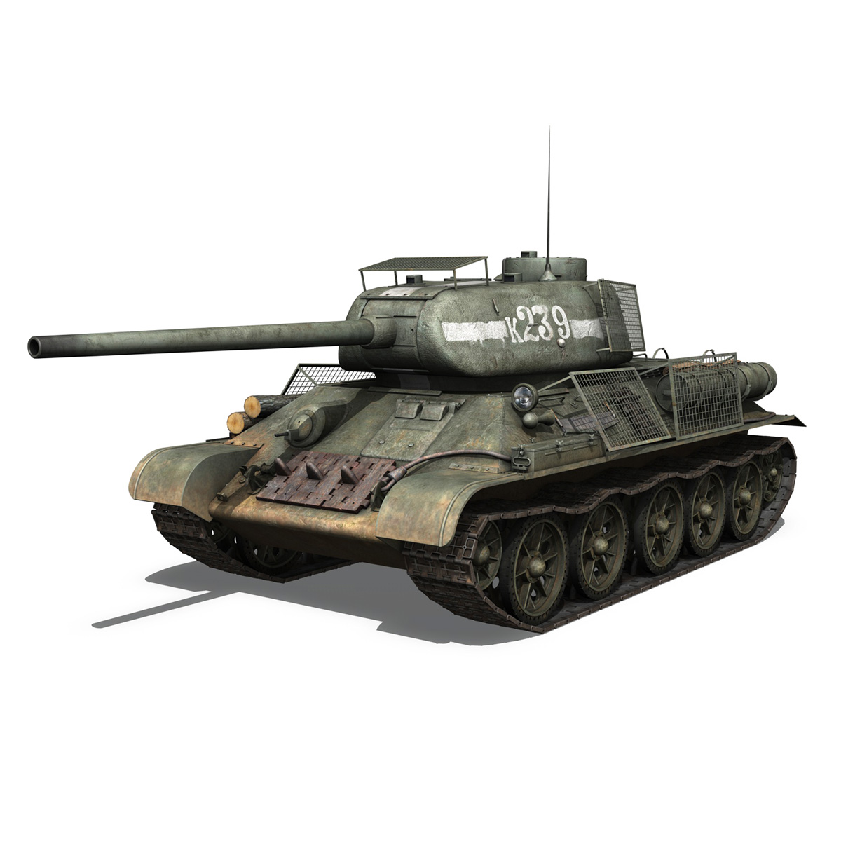 t-34 85 – soviet medium tank – 239 3d model 3ds c4d obj lwo lw lws 266424