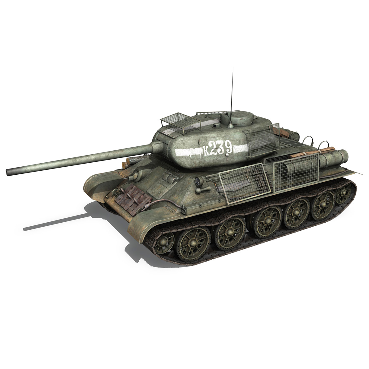t-34 85 – soviet medium tank – 239 3d model 3ds c4d obj lwo lw lws 266425