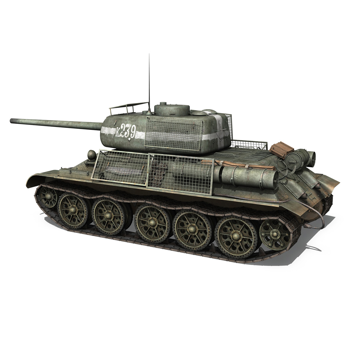 t-34 85 – soviet medium tank – 239 3d model 3ds c4d obj lwo lw lws 266426