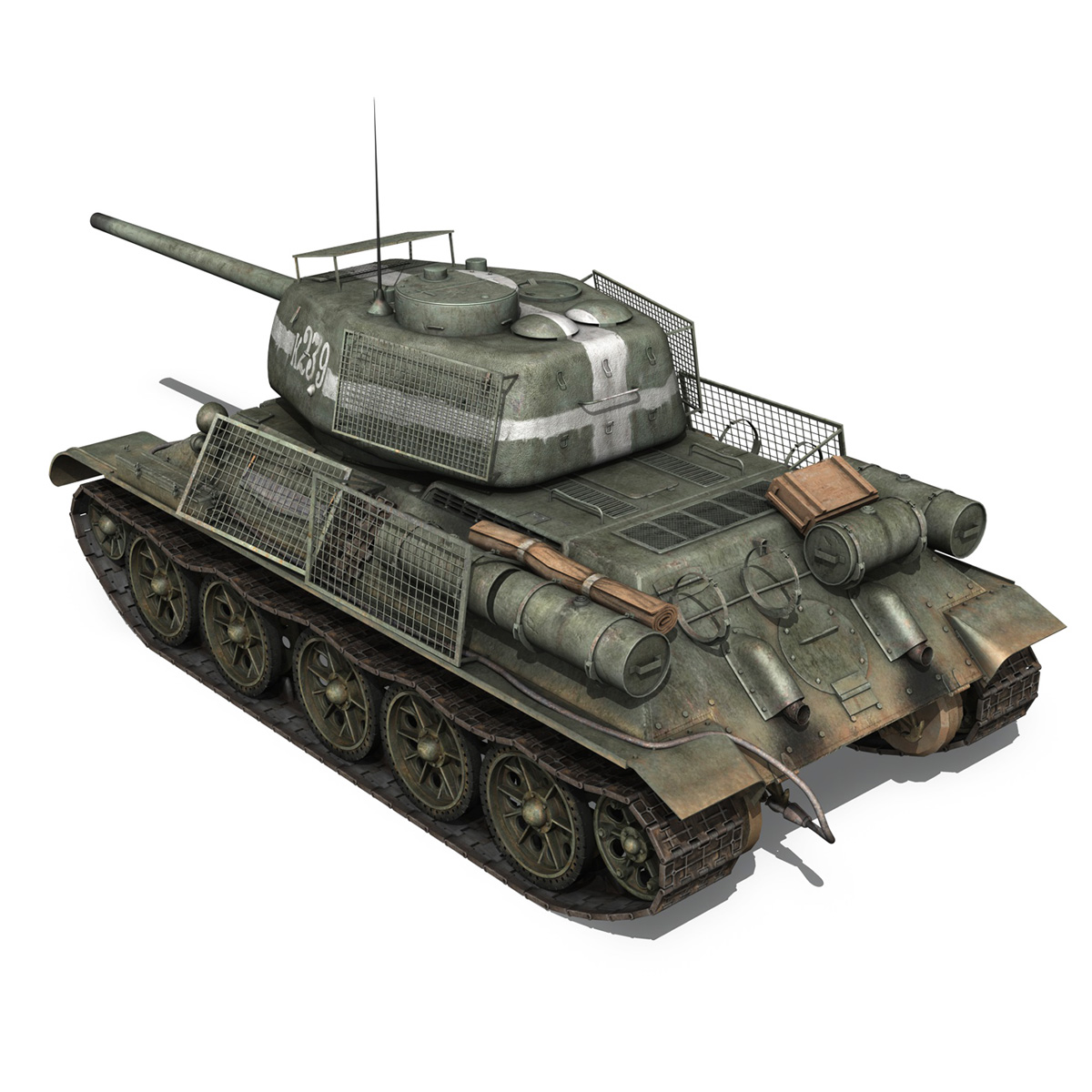 t-34 85 – soviet medium tank – 239 3d model 3ds c4d obj lwo lw lws 266427