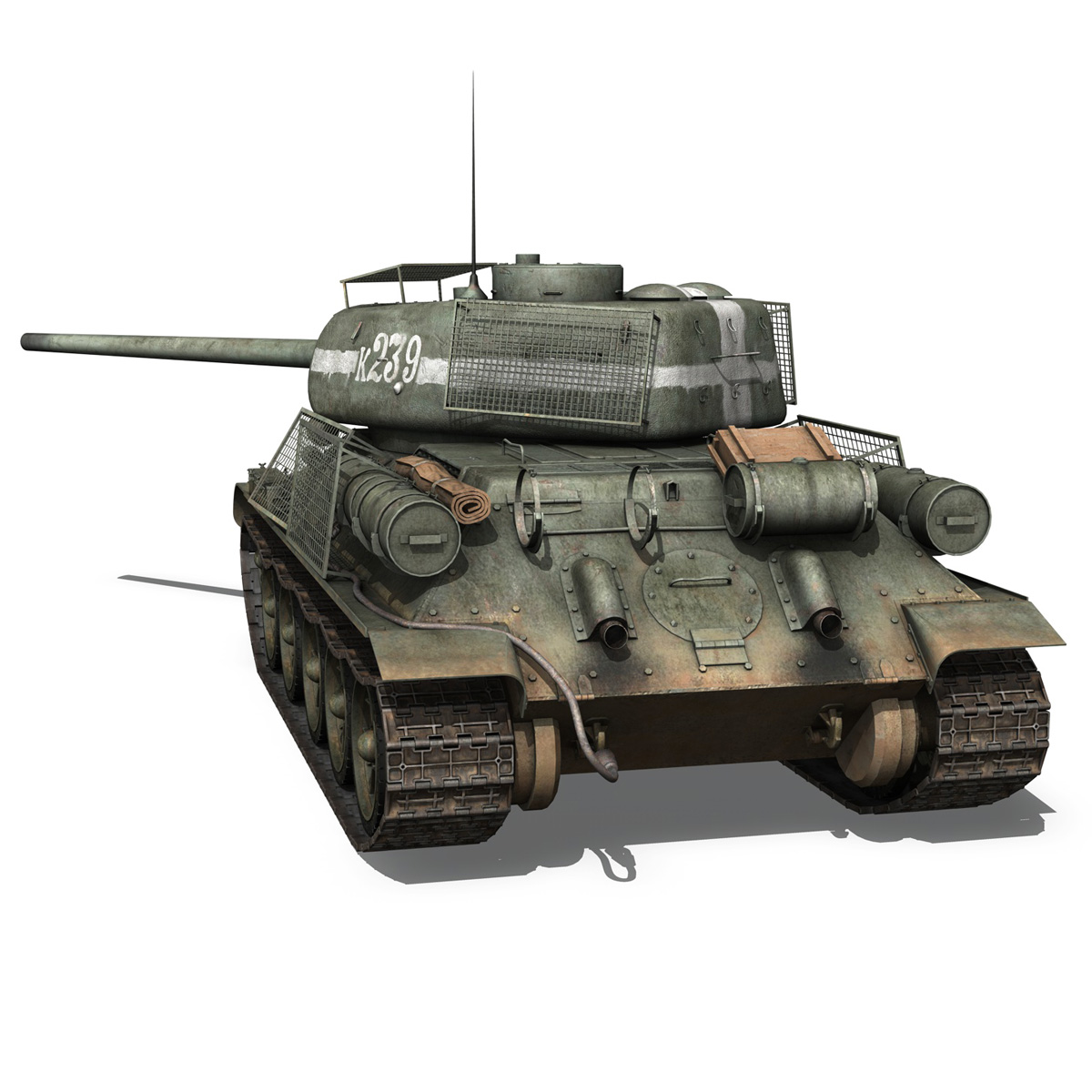 t-34 85 – soviet medium tank – 239 3d model 3ds c4d obj lwo lw lws 266428