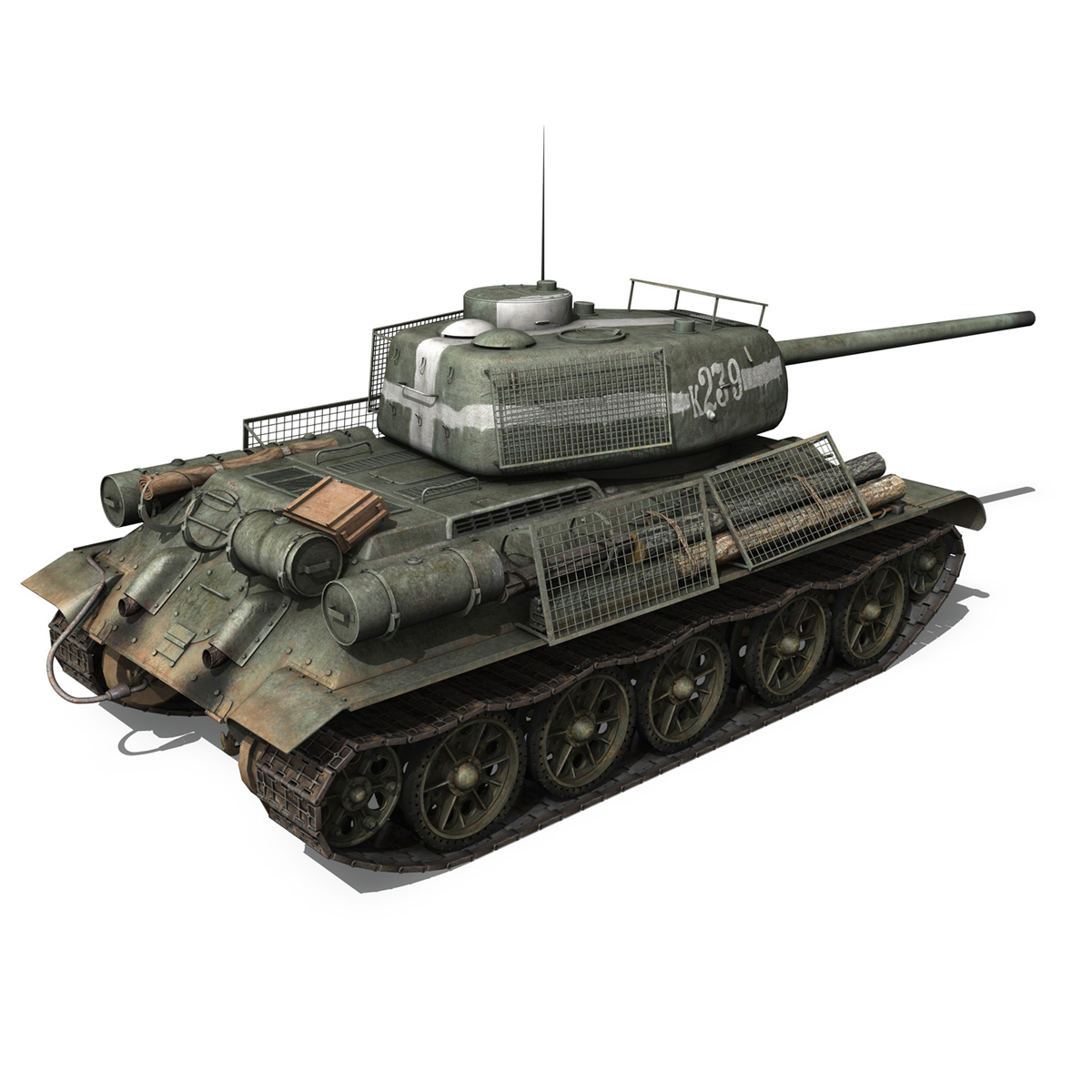 t-34 85 – soviet medium tank – 239 3d model 3ds c4d obj lwo lw lws 266429