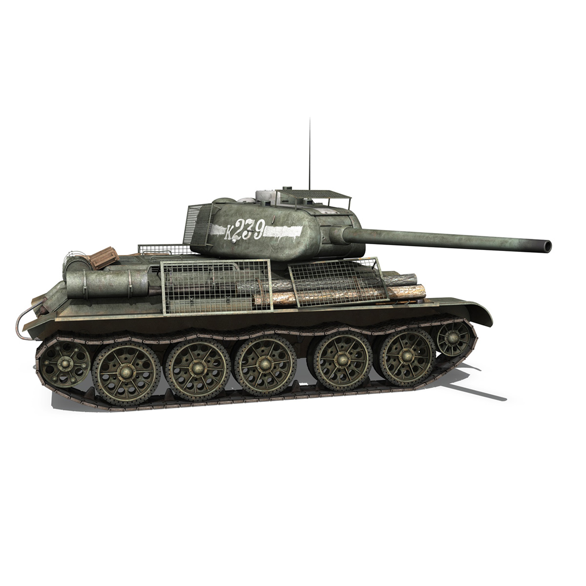 t-34 85 – soviet medium tank – 239 3d model 3ds c4d obj lwo lw lws 266430
