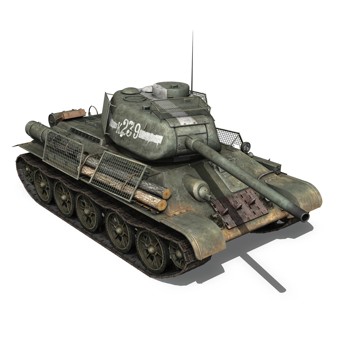 t-34 85 – soviet medium tank – 239 3d model 3ds c4d obj lwo lw lws 266431