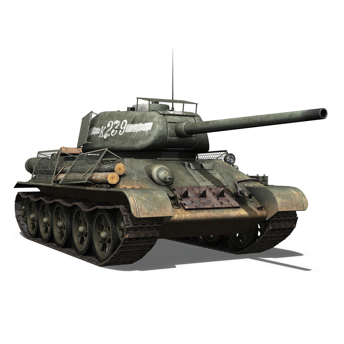 t-34 85 – soviet medium tank – 239 3d model 3ds c4d obj lwo lw lws 266432
