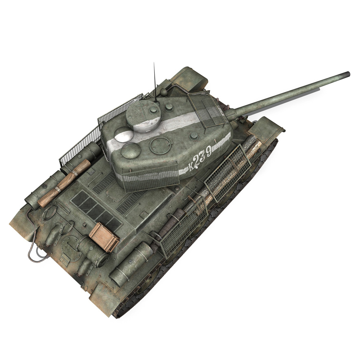 t-34 85 – soviet medium tank – 239 3d model 3ds c4d obj lwo lw lws 266433