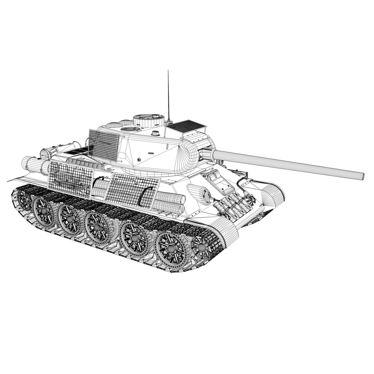 t-34 85 – soviet medium tank – 239 3d model 3ds c4d obj lwo lw lws 266435