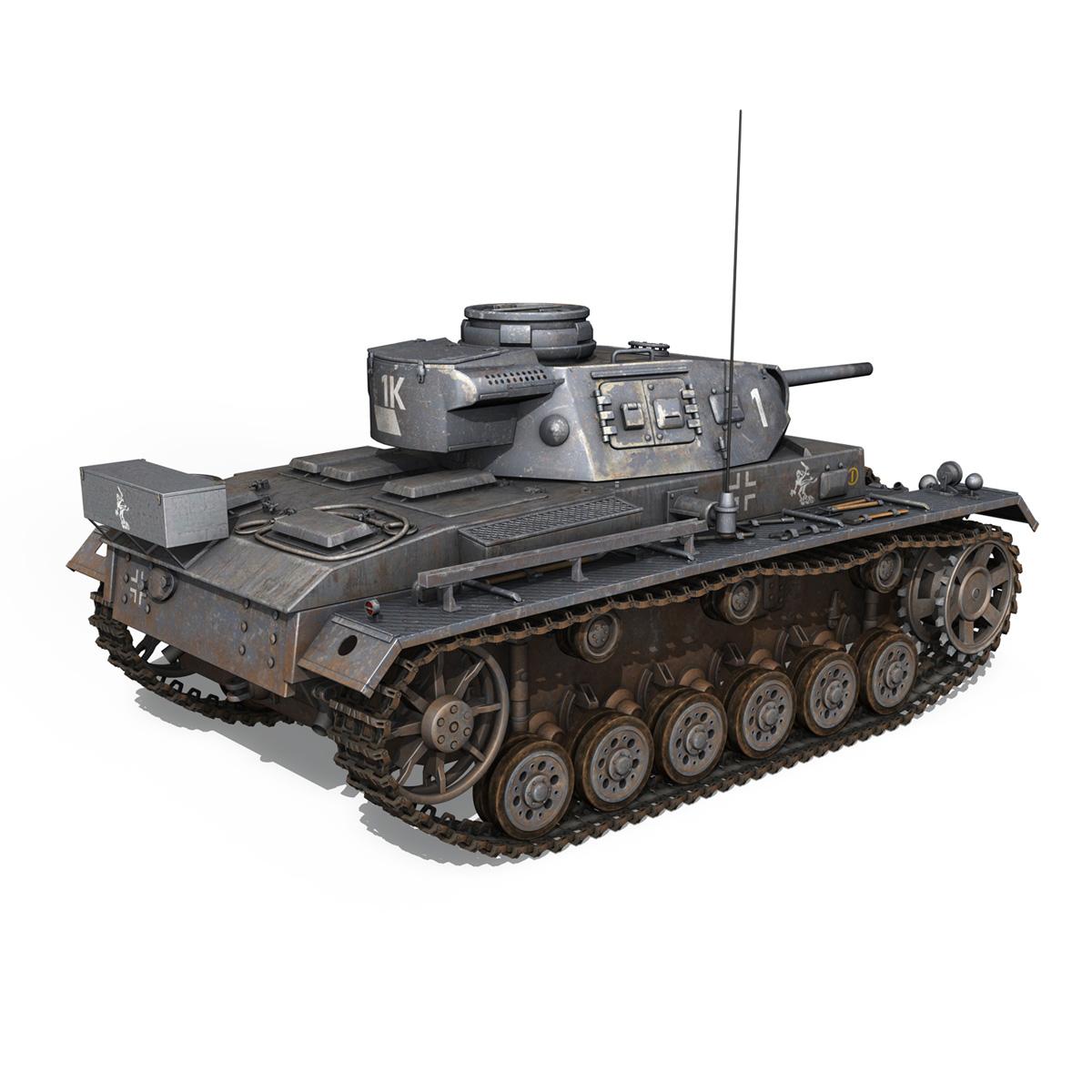 pzkpfw iii – panzer 3 – ausf.j – 1k 3d model lwo lw lws obj c4d 3ds fbx 266449