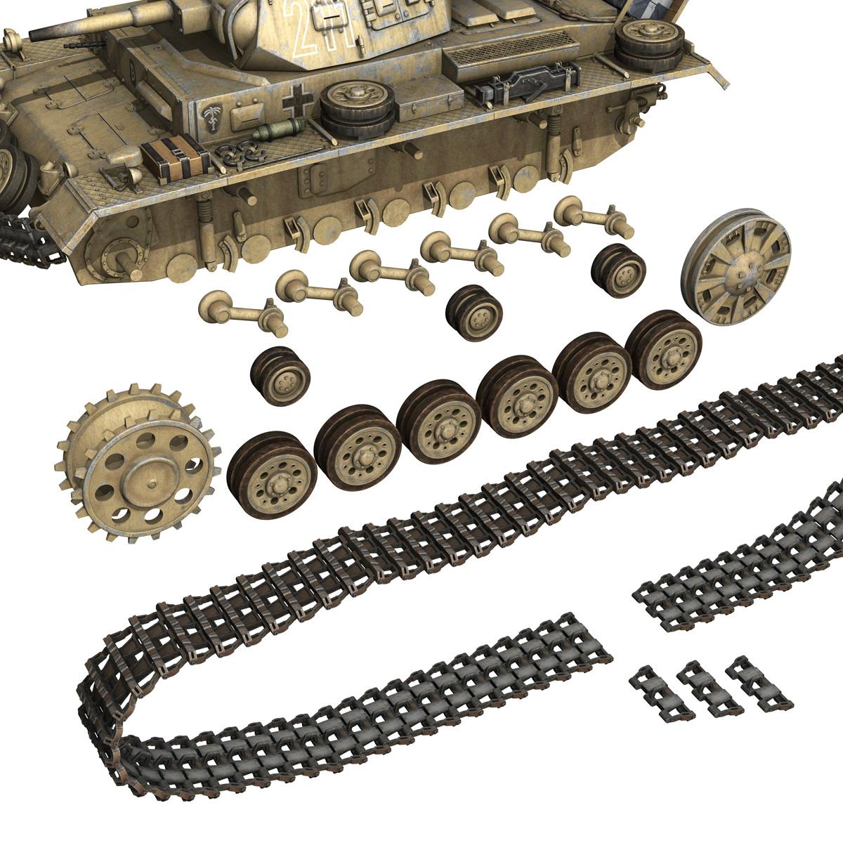pzkpfw iii – panzer 3 – ausf.g – dak – 211 3d model 3ds c4d fbx lwo lw lws obj 266472