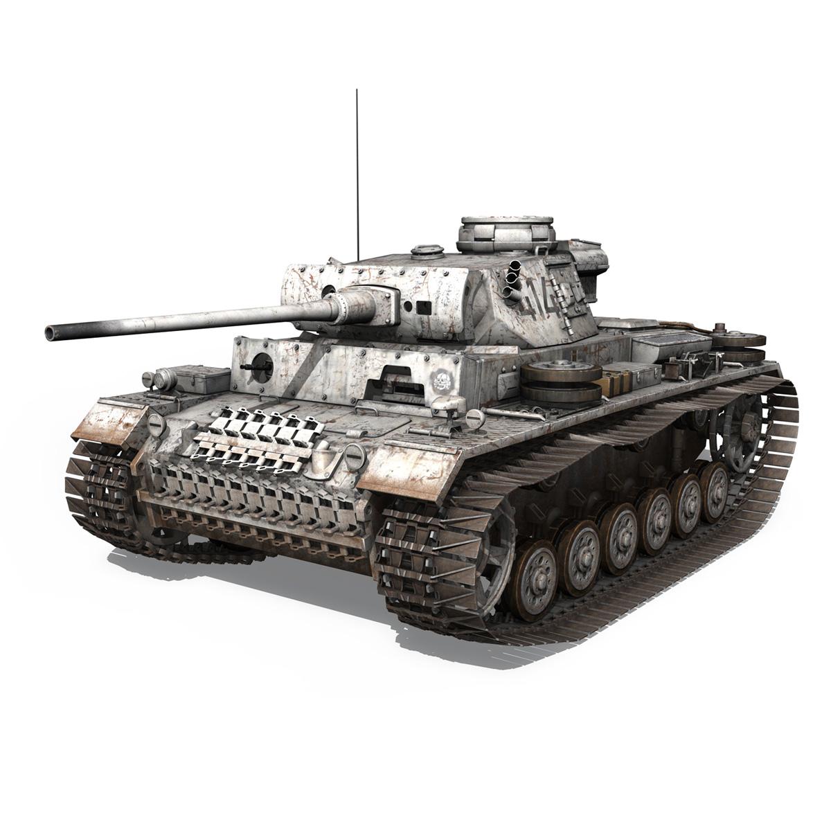 pzkpfw iii – panzer 3 – ausf.m – 414 3d model 3ds obj c4d lwo lw lws 266488