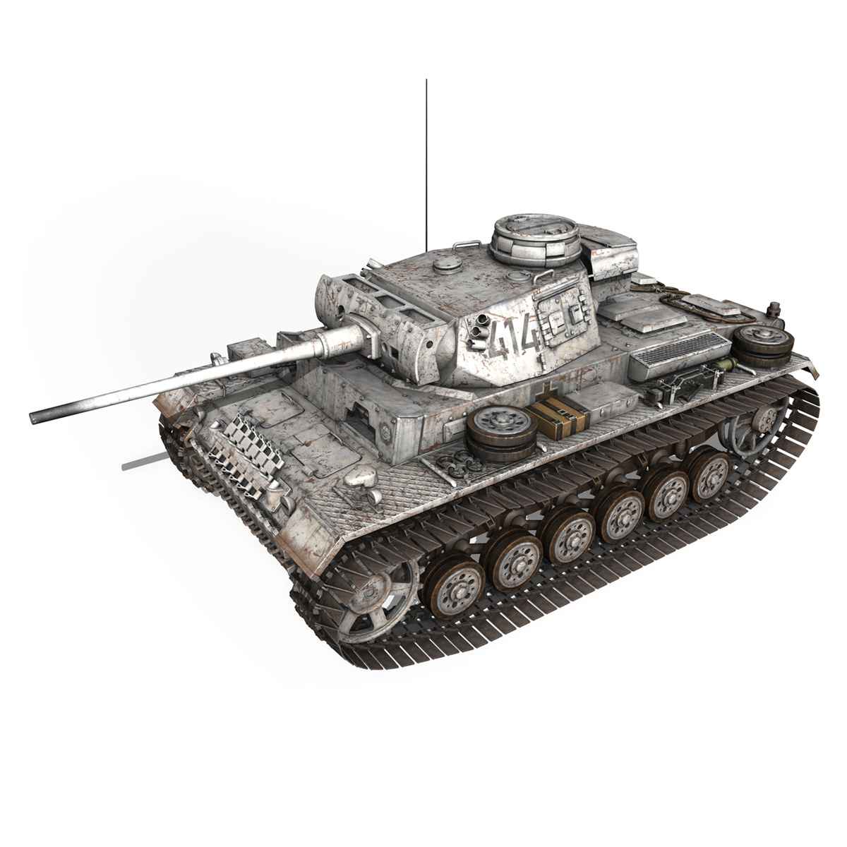pzkpfw iii – panzer 3 – ausf.m – 414 3d model 3ds obj c4d lwo lw lws 266489