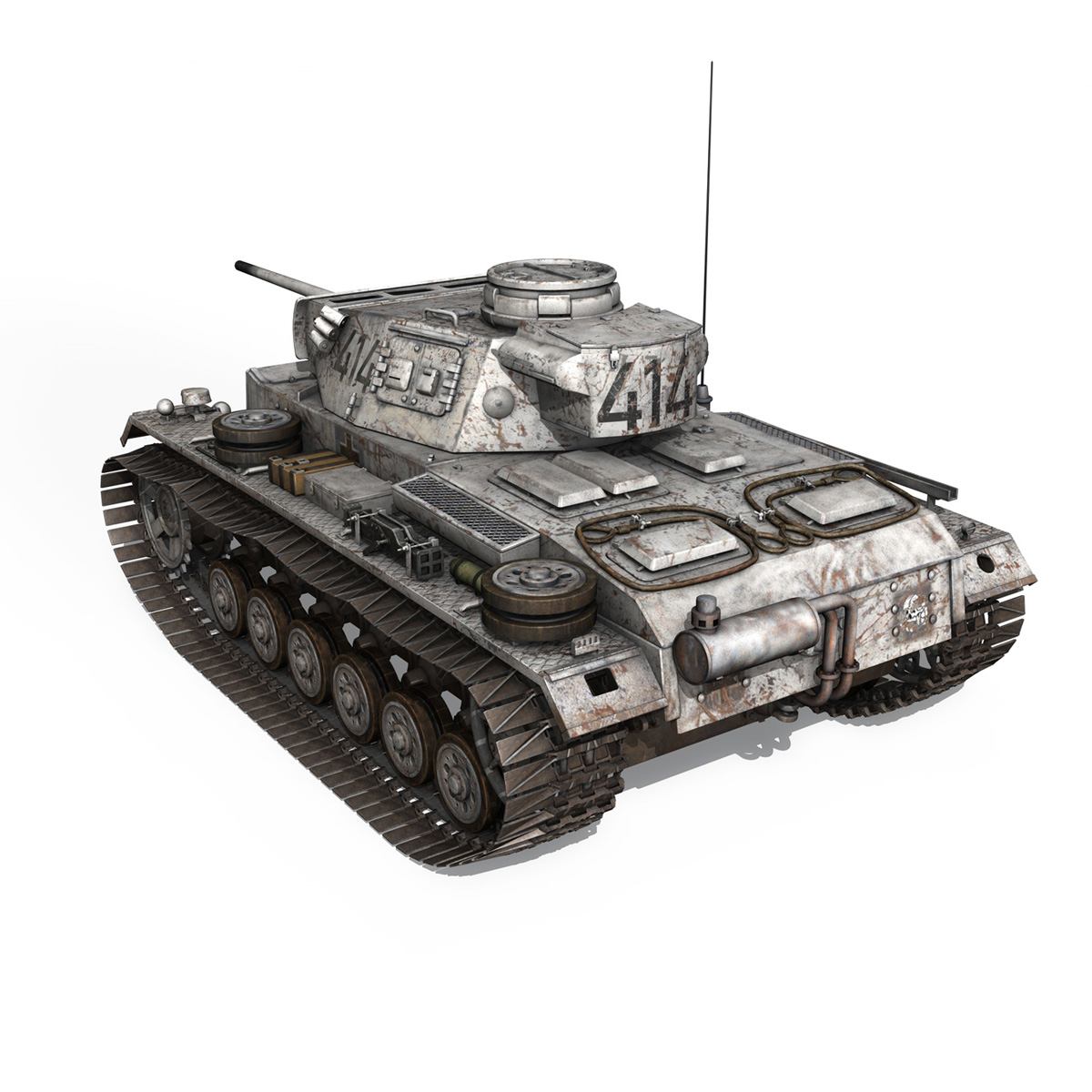 pzkpfw iii – panzer 3 – ausf.m – 414 3d model 3ds obj c4d lwo lw lws 266491
