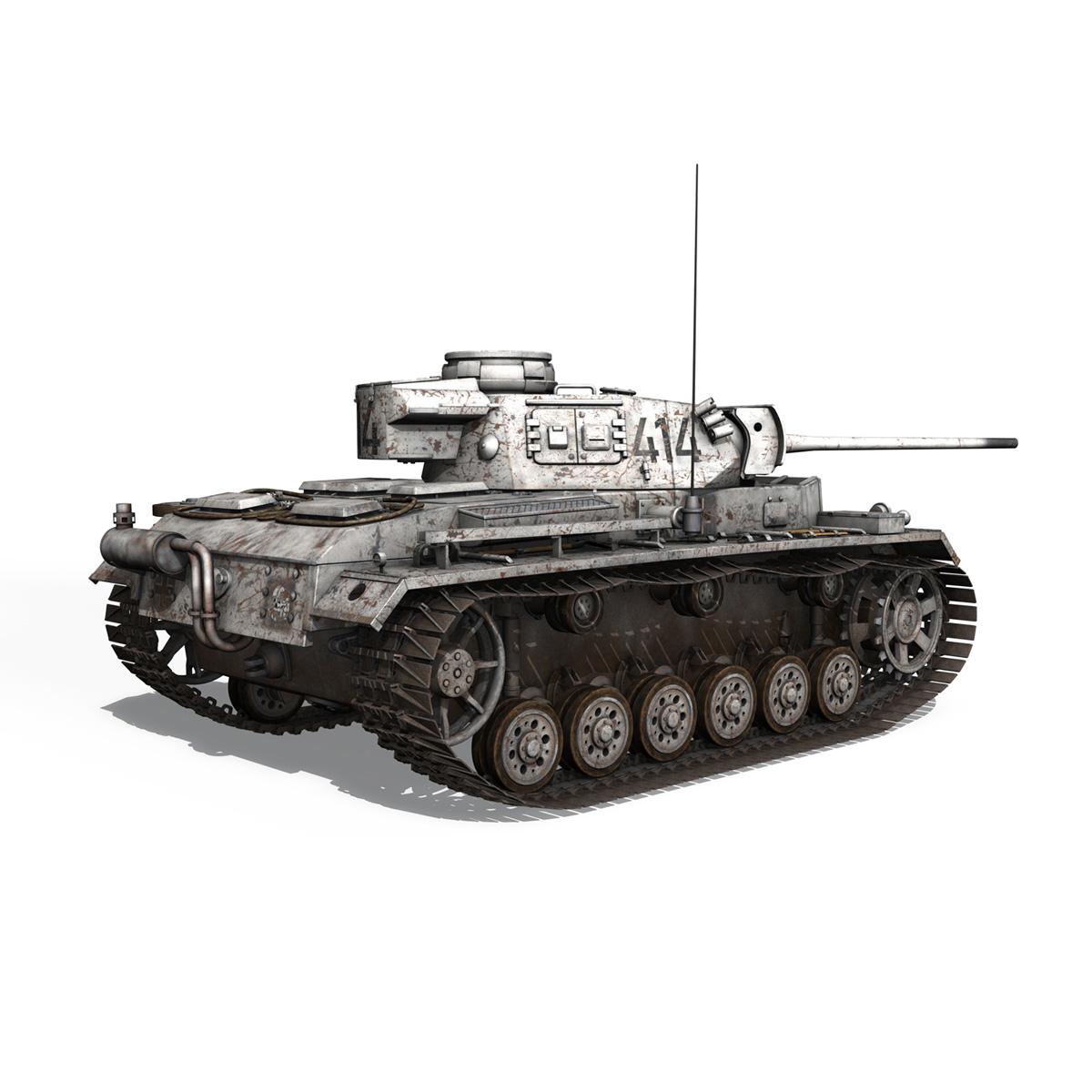 pzkpfw iii – panzer 3 – ausf.m – 414 3d model 3ds obj c4d lwo lw lws 266492