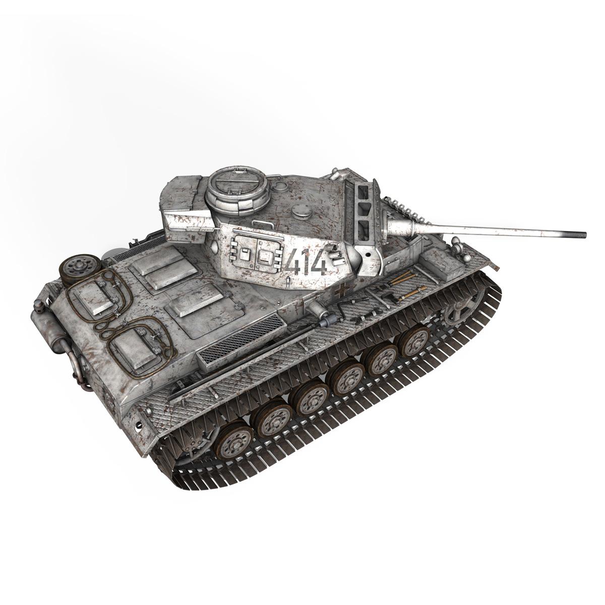 pzkpfw iii – panzer 3 – ausf.m – 414 3d model 3ds obj c4d lwo lw lws 266493