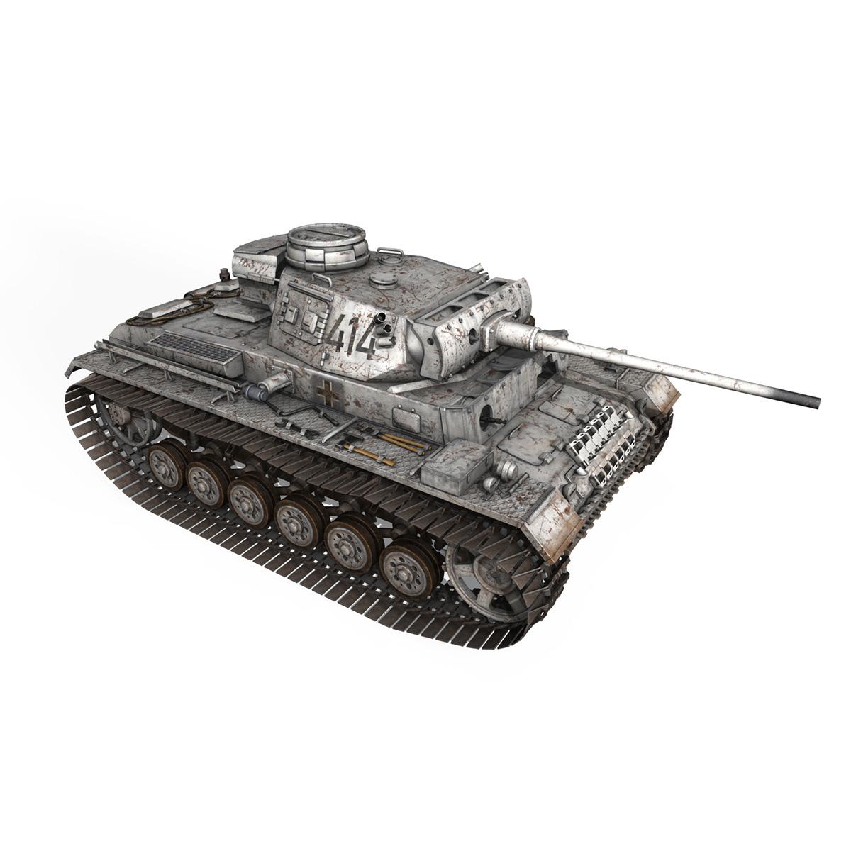 pzkpfw iii – panzer 3 – ausf.m – 414 3d model 3ds obj c4d lwo lw lws 266494