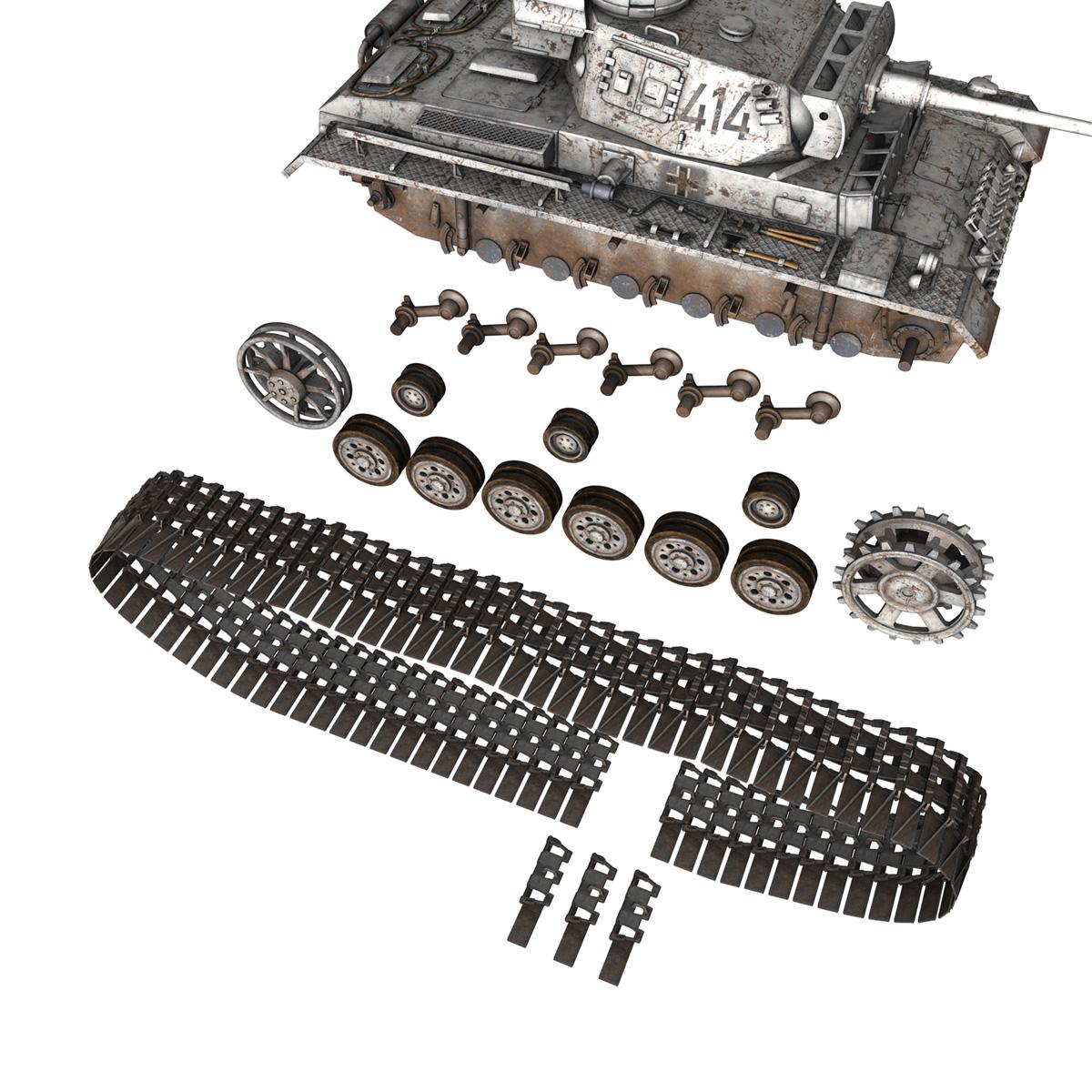pzkpfw iii – panzer 3 – ausf.m – 414 3d model 3ds obj c4d lwo lw lws 266496