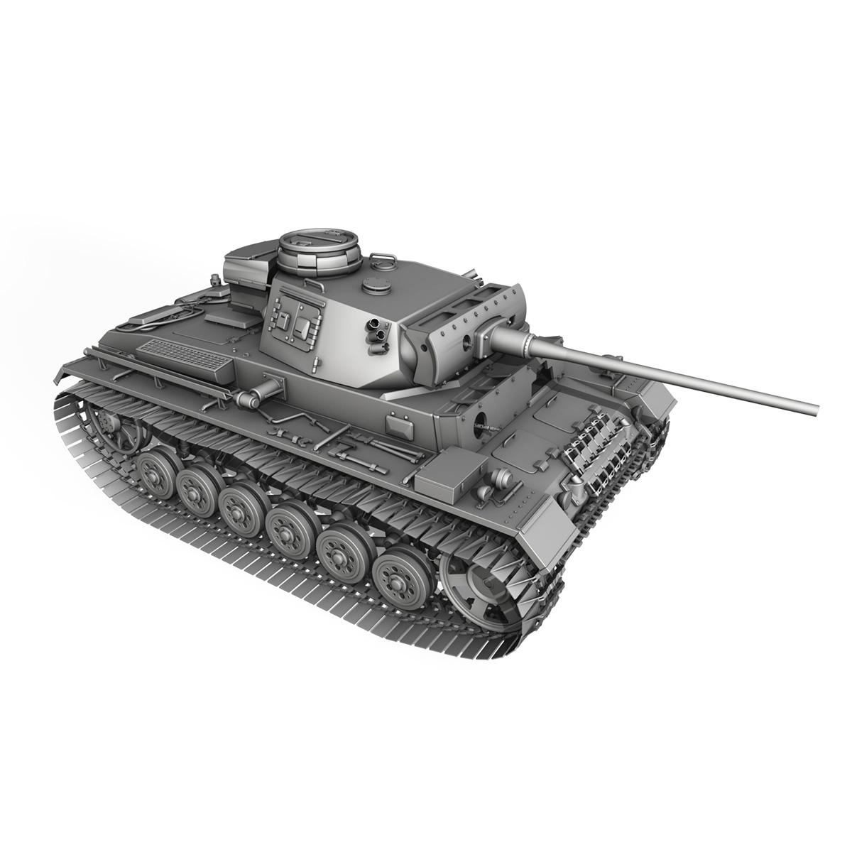 pzkpfw iii – panzer 3 – ausf.m – 414 3d model 3ds obj c4d lwo lw lws 266497