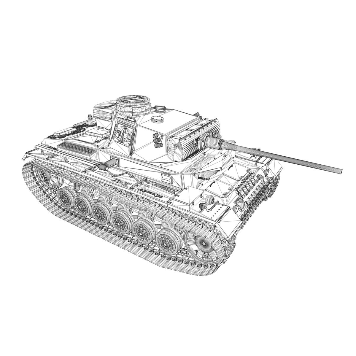 pzkpfw iii – panzer 3 – ausf.m – 414 3d model 3ds obj c4d lwo lw lws 266498